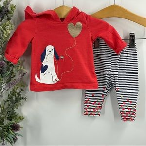 Carter's | Puppy Hoodie and Matching Pants, 3M